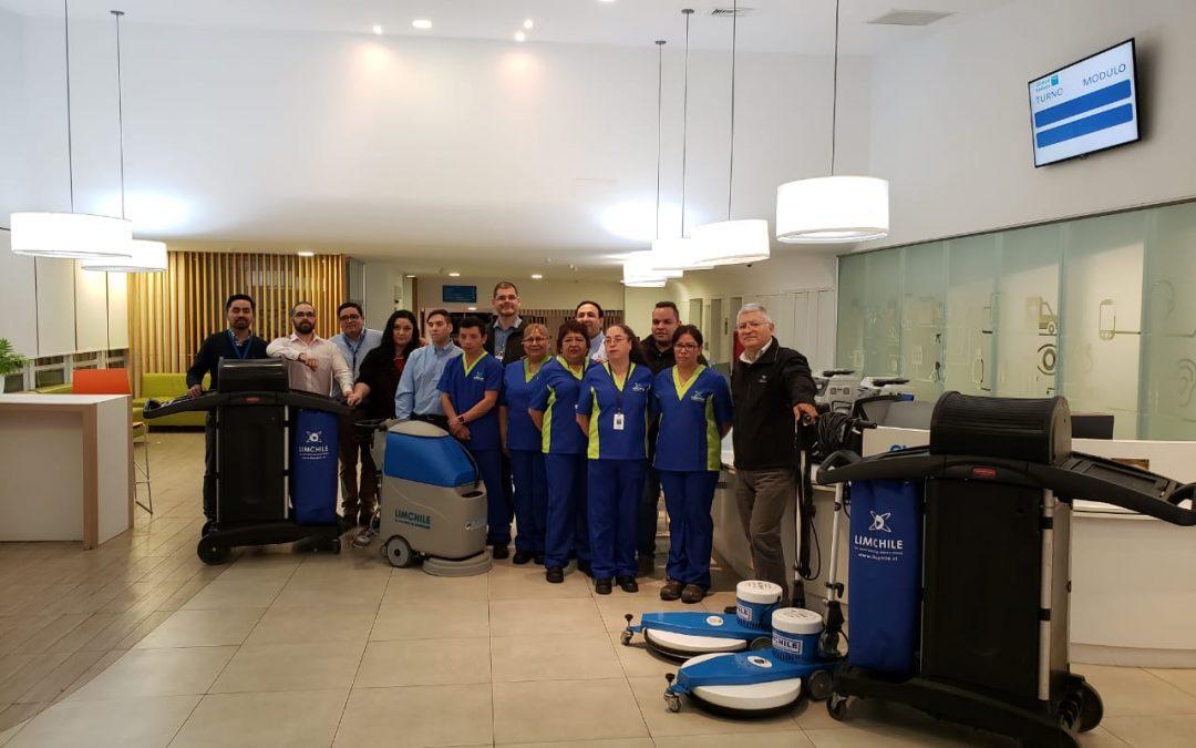 Inicio de servicio de Aseo Hospitalario en en la Clínica Reñaca